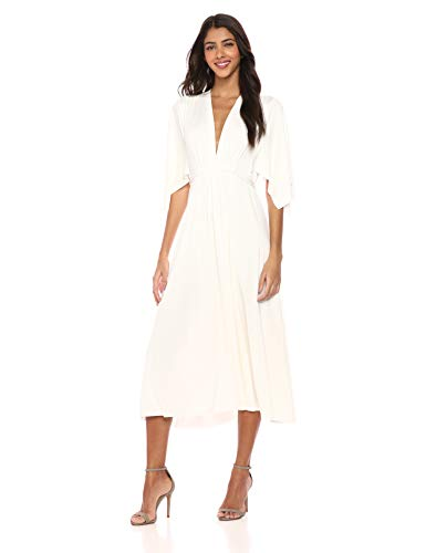 Rachel Pally Women's MIDI Caftan Dress, White, M