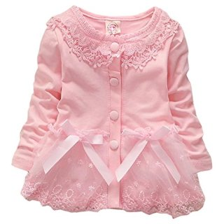 Baby Girls Spring Autumn Baby Lace Casual Coat Jackets Cardigan