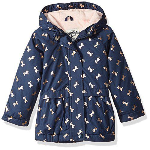 Osh Kosh Baby Girls Cute Midweight Fleece-Lined Jacket