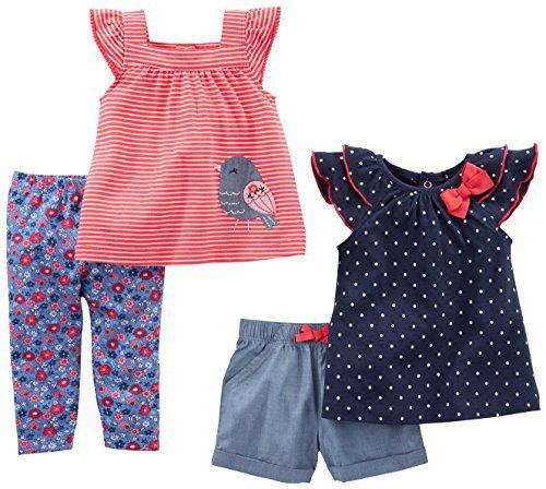 Simple Joys by Carter's Baby Girls Baby 4-Piece Playwear Set