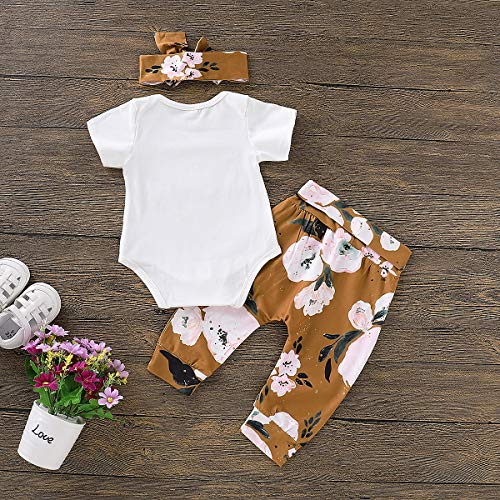 a37d5abc5701 3Pcs Infant Newborn Baby Girls Hello World Romper Tops+Pants Clothes Outfit  Sets. Home ...