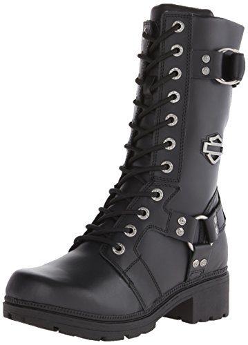 Harley-Davidson Women's Eda Motorcycle Boot, Black
