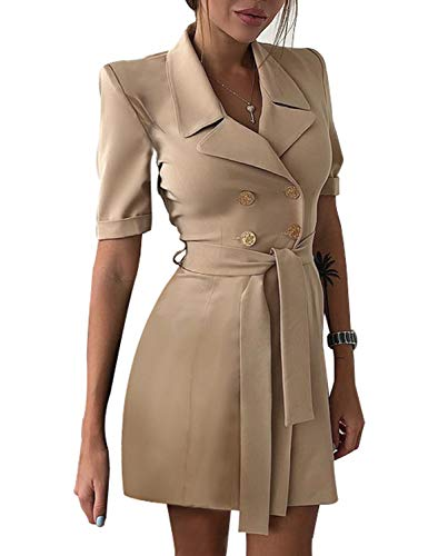 Sunlen Women's Mini Elegant Blazer Dresses For Cocktail Party