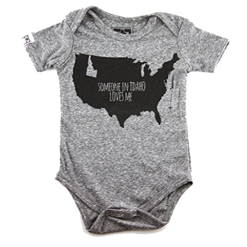 Fawn + Foal Infant Someone In Idaho Loves Me Unisex Bodysuit