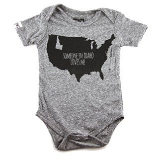 Fawn + Foal Infant Someone In Idaho Loves Me Unisex Bodysuit