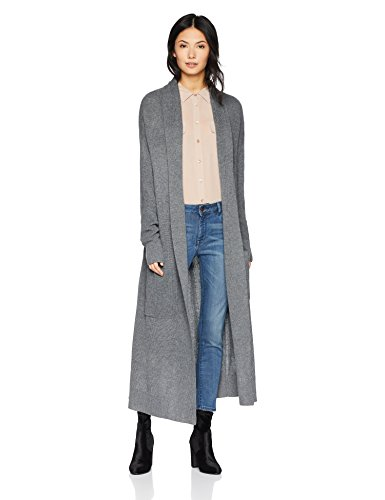 Cable Stitch Women's Open Placket Long Cardigan Sweater