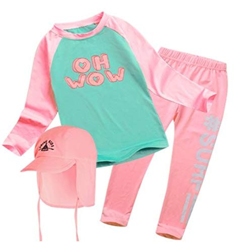 GAON902 Girls Two Pieces Swimsuits Long Sleeve Rash Guard