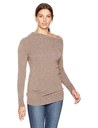 Lark & Ro Women's Sweaters Off the Shoulder Cashmere Sweater