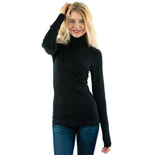 Woolx Womens Peyton Warm & Soft Midweight Merino Wool Turtleneck Sweater