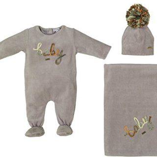 Cream Bebe Newborn Baby Boy Gift Set Grey