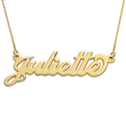 MyNameNecklace Small Name Necklace - Small Carrie Pendant