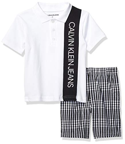 Calvin Klein Boys' Toddler 2 Pieces Polo Shorts Set