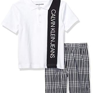 Calvin Klein Boys' Toddler 2 Pieces Polo Shorts Set