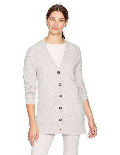Lark & Ro Women's Sweater Long Sleeve V-Neck Cardigan Cashmere Sweater