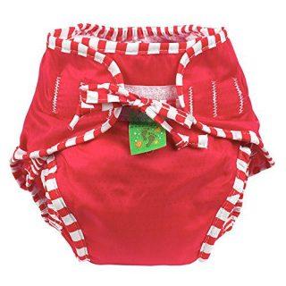 Kushies Cloth Swim Diaper - - Red - Medium