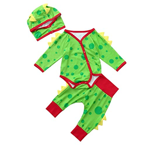 Veepola 3Pcs Baby Clothes, Infant Baby Boys Girls Dinosaur
