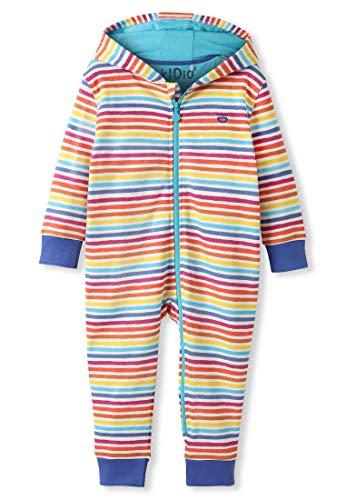 Organic Cotton Baby Snuggle Suit Girl Boy - Rainbow Stripes