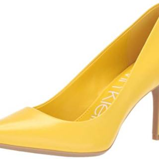 Calvin Klein Women's Gayle Pump, Lemon kidskin