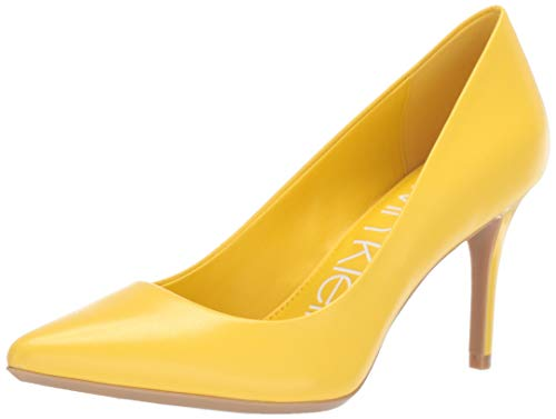 Calvin Klein Women's Gayle Pump, Lemon kidskin