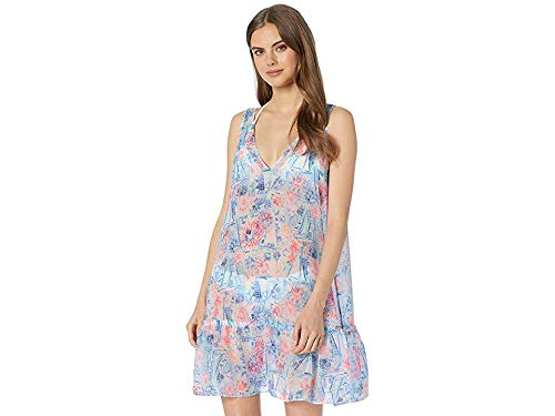 Lilly Pulitzer Women's Saline Cover-Up Crew Blue Tint Sea