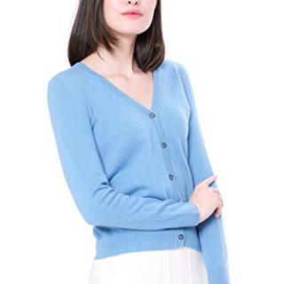 Goyo Cashmere Women's 100% Pure Cashmere Cardigan