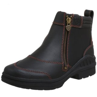 Ariat Women's Barnyard Side Zip Barn Boot, Dark Brown