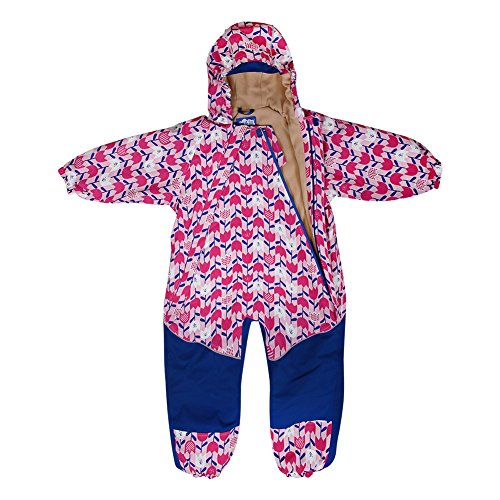 Kids Water-Proof Fleece-Lined Rain Suit One-Piece Hooded