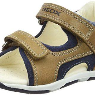 Geox TAPUZ BOY 6 Sandal, Caramel/Navy