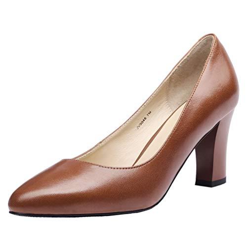 JARO VEGA Women's Pumps Light Brown Real Leather