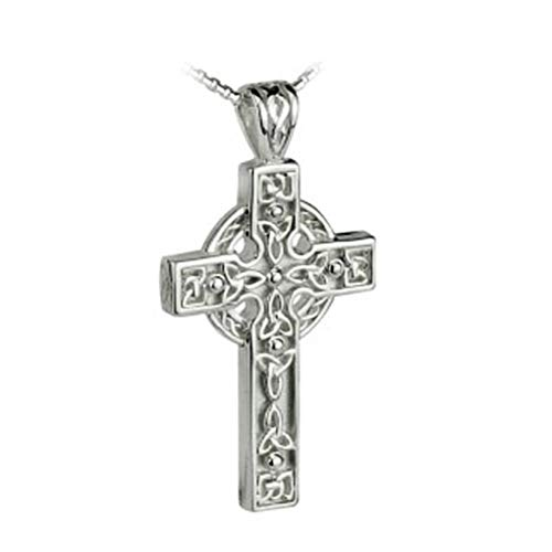 Failte Celtic Cross Necklace Sterling Silver Knot Design