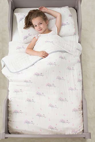 aden + anais Classic Toddler Bed in a Bag - For the Birds Kids Bedding Sets