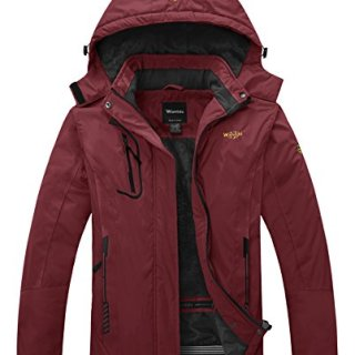 Wantdo Women's Waterproof Mountain Jacket Fleece Windproof