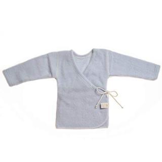 LANACARE Organic Wool Baby Sweater, Light Blue