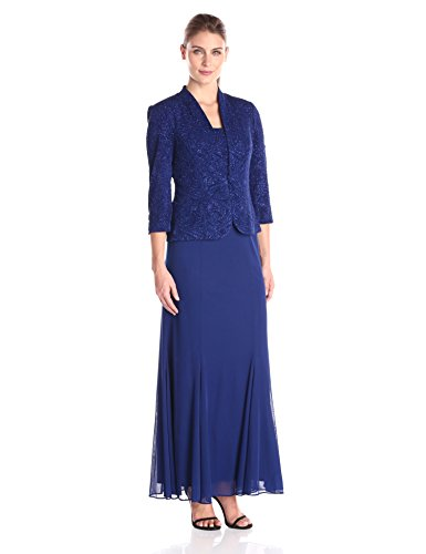 Alex Evenings Women's Long Length Blazer Jacket Dress