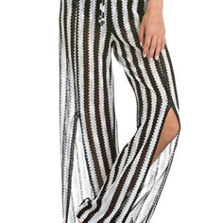 ISABELLA ROSE Women's Sheer Side Slit Pants Swim Cover Up