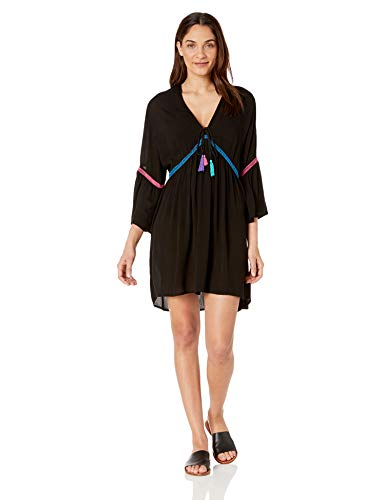 La Blanca Women's V-Neck Bell Sleeve Beach Cover Up Dress