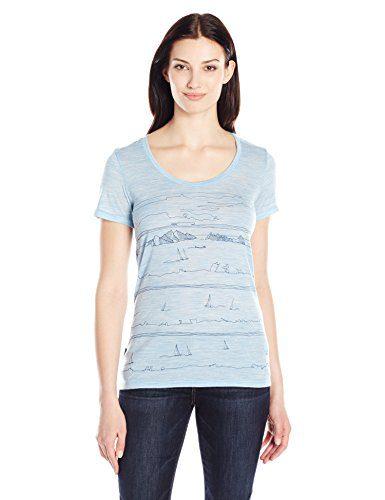 Icebreaker Merino Women's Tech Lite Short Sleeve Scoop Tee Porto Isle Graphic