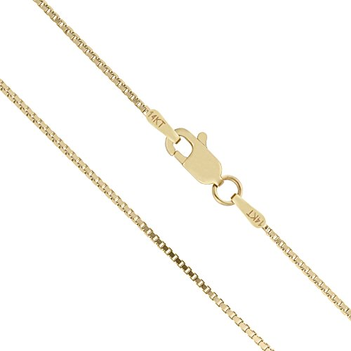 Honolulu Jewelry Company 14K Solid Yellow Gold 1mm Box Chain Necklace