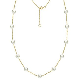 White Freshwater Cultured Pearl Necklace Tin Cup Station