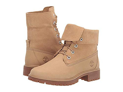 Timberland Women's Jayne Fold Down Boot Medium Beige Nubuck