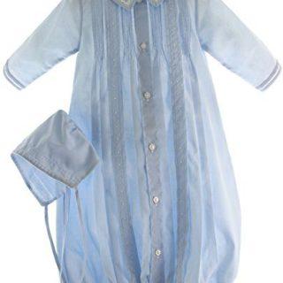 Boys Blue Take-Me-Home Gown & Hat Newborn