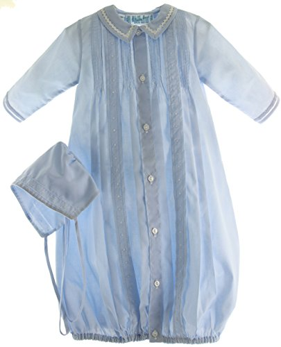 Boys Blue Take-Me-Home Gown & Hat Newborn