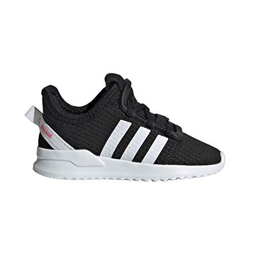 adidas Originals Baby U_Path Running Shoe, Black/White/Shock red