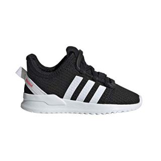 adidas Originals Baby U_Path Running Shoe, Black/White/Shock red