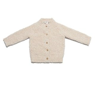 Barefoot Dreams CozyChic Infant Heathered Cardigan Pink/White
