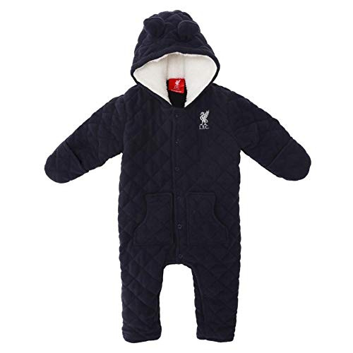 Liverpool FC Blue Baby Boy Football Navy Quilted Snow Suit