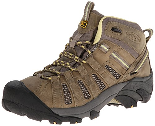 KEEN Women's Voyageur Mid Hiking Boot, Brindle/Custard