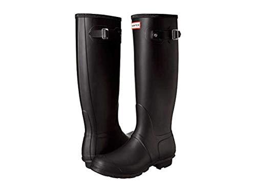 Hunter Womens Original Tall Rain Boot Shoes, Black