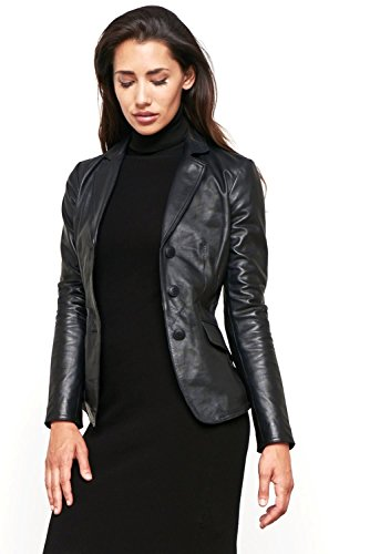 World of Leather Women's Lambskin Genuine Leather Jacket