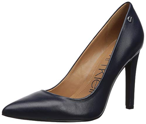 Calvin Klein Women's Brady Pump Navy Leather